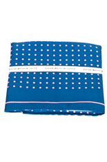 Pink Dots Blue Silk Pocket Square