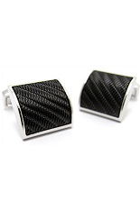 RT Corto Wave Black IP Plated Cufflinks