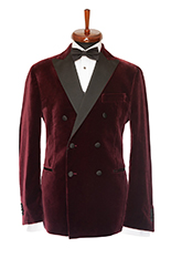 Gentlemen`s Corner Bordeaux Velvet Dinner Jacket - Lancaster