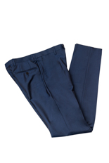 Gentlemen`s Corner Blue Slim Fit Trousers - Jack