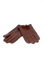 Goatskin Leather Driving Gloves - Brown