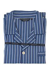 Navy and Blue Stripe Cotton Pyjamas