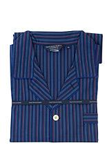 Navy, Blue & Red Stripe Cotton Pyjamas
