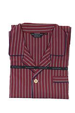 Wine & Blue Stripe Cotton Pyjamas