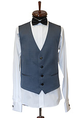 Gentlemen`s Corner Blue Waistcoat - Made to Measure