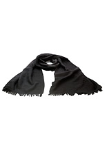 Gentlemen`s Corner Wool Scarf - Black