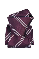 Gentlemen`s Corner Purple Stripe Silk Tie