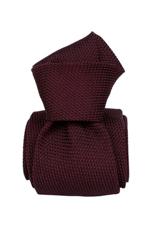Gentlemen`s Corner Burgundy Grenadine Silk Tie-