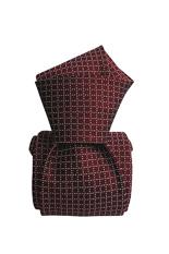 Gentlemen`s Corner Six-Fold Burgundy Silk Tie