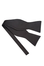 Gentlemen`s Corner Silk Self-Tie Bow Tie - Black