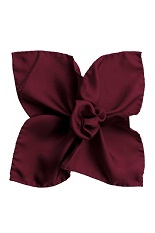 Gentlemen`s Corner Silk Pocket Square - Aubergine
