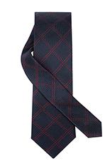 Gentlemen`s Corner Slim Navy Silk Tie