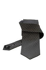 Gentlemen`s Corner Fine Pattern Black Silk Tie