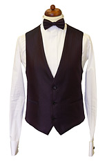 Gentlemen`s Corner Bordeaux Waistcoat - Made to Measure