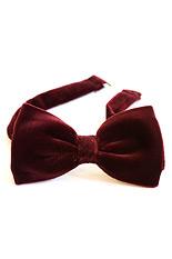 Gentlemen`s Corner Velvet Bow Tie - Bordeaux