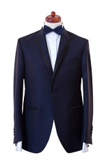 Gentlemen`s Corner Slim Fit Dinner Jacket - Tasmanian Blue