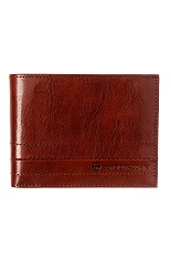 Sergio Tacchini Leather Wallet - Polished Brown