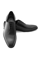 Gentlemen`s Corner Black Hi-Shine Leather Shoes