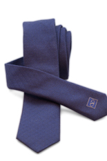 Valentino Silk Tie - Blue Cotton