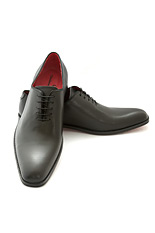 Gentlemen`s Corner One-Piece Black Leather Shoes - Blake