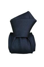 Gentlemen`s Corner Textured Navy Luxury Silk Tie