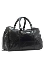Amalfi Travel Leather Bag - Black