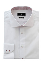 Aston White Shirt - Button Cuff