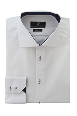 Archer White Shirt - Button Cuff
