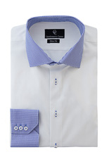 Bain White Shirt - Button Cuff