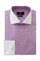 Carl Purple Shirt - Button Cuff