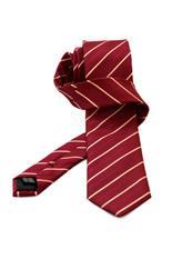 Gentlemen`s Corner Beige Stripe Red Silk Tie
