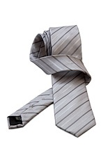 Gentlemen`s Corner Black Stripe Grey Silk Tie