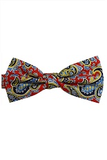 Lloyd Attree & Smith Silk Bow Tie - Red Paisley Fancy
