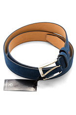 Gentlemen`s Corner Mysterious Blue Suede Leather Belt