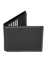 Luciano Pollini Leather Wallet - Black Siena