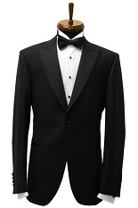 Gentlemen`s Corner Slim Fit Dinner Jacket - Pure Black