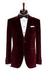 Gentlemen`s Corner Bordeaux Velvet Dinner Jacket