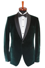 Gentlemen`s Corner Green Velvet Dinner Jacket
