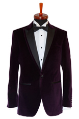 Gentlemen`s Corner Purple Velvet Dinner Jacket