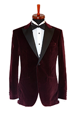 Gentlemen`s Corner Bordeaux Velvet Dinner Jacket