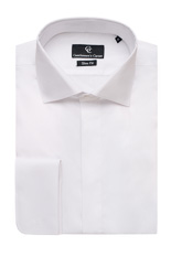 Zante White Dress Shirt - Double Cuff