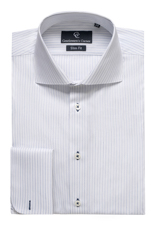 Brera Blue Stripe Shirt - Double Cuff