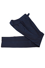 Gentlemen`s Corner Textured Dark Blue Slim Fit Trousers