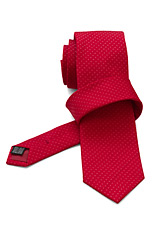 Gentlemen`s Corner Fine Dots Red Silk Tie