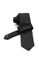 Gentlemen`s Corner Black Silk Tie
