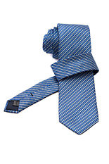 Gentlemen`s Corner Blue Stripe Light Blue Silk Tie