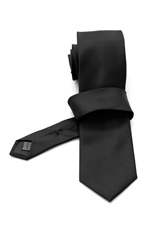 Gentlemen`s Corner Black Ceremony Silk Tie