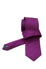 Gentlemen`s Corner Stripe Violet Silk Tie