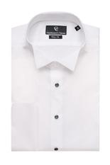 Naxos White Dress Shirt - Black Buttons-