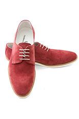 Gentlemen`s Corner Bordeaux Suede Shoes